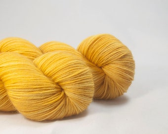 Golden Yeggs - Golden YellowHand Dyed Merino / Nylon Sock Yarn