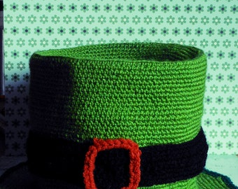 st patrick's day Hat leprechaun crochet ADULT Size