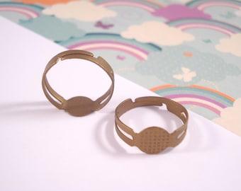 Ring Bases - Antique Bronze x 50 (Adjustable Size)