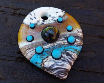 Artifact Lampwork Glass Bead Pendant