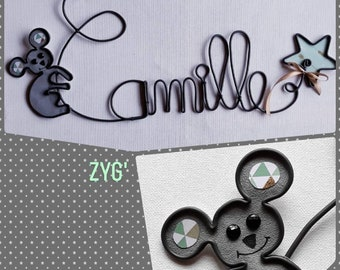 Child in wire, custom name.