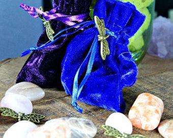 Balance Medicine Bag with Sunstone, Moonstone and Rose Quartz; FB1061