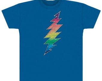 Grateful Dead T-shirt- 13 Point Lightning bolt- 100% cotton heavyweight shirt