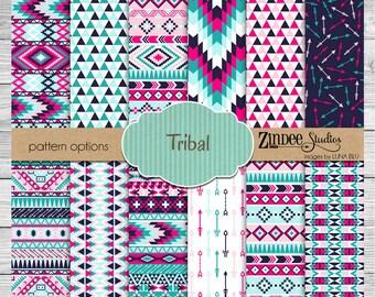 aztec tribal Pattern Vinyl HEAT TRANSFER or ADHESIVE, htv or permanent adhesive vinyl printed vinyl