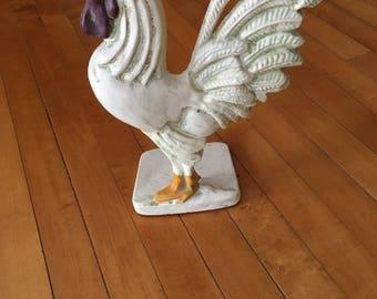 rooster chicken hen cast iron door stop