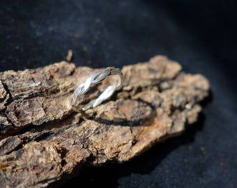 Silver wire woven ring