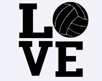Volleyball Decal - LOVE Decal - Volleyball Sticker - LOVE Sticker - Sport Decal - Sports Sticker