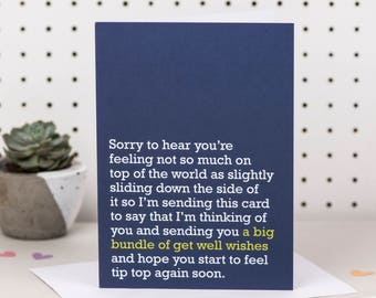 A Big Bundle Of Get Well Wishes - Get Well Card