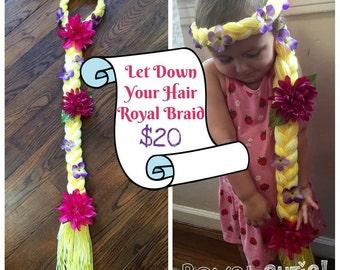 Rapunzel Inspired Braid, Rapunzel Yarn Wig, Rapunzel Braid, Let Down Your Hair Royal Braid