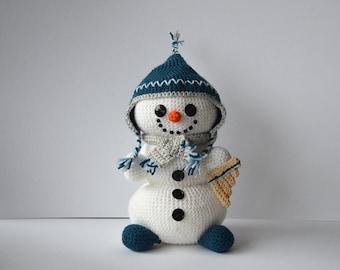 Peruvian Snowman Crochet Pattern, Snowman Amigurumi Pattern, Winter Snowman Crochet Pattern, Christmas Snowman, Christmas Crochet Pattern