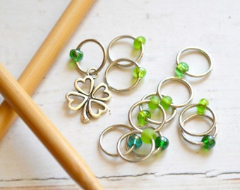 SALE!! Symbol of Luck / Knitting Stitch Marker Set / Snag Free / Small Medium Large Sizes Available