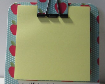 Apples Chipboard Coaster Magnetic Sticky Notes Holder