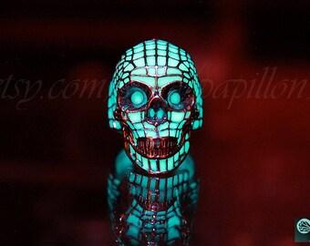 Skull Ring / Glow in the Dark /  ERIC DESIGN / Skull glow in the dark / Glow Skull Ring /