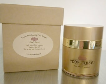 Yoof Juice! Luxurious face cream, Vegan Face Cream, Anti Aging