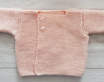 Baby vest two pink buttons