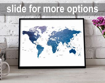 world map print world map poster watercolor map world map nursery poster watercolor world map wall art world map wall decor world map print