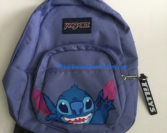 Stitch Hand Painted mini backpack