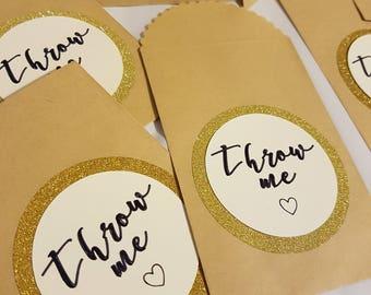 10 x Beautiful handmade confetti bags