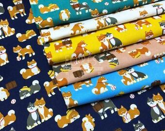 cotton - shiba inu fabric - 50cm