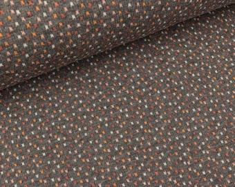 Hamburger Liebe 4 Color Jacquardjersey bits & bobs Carbon melange-coloured (20.90 EUR/meter)