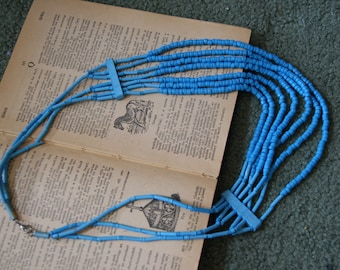 Vintage blue statement necklace