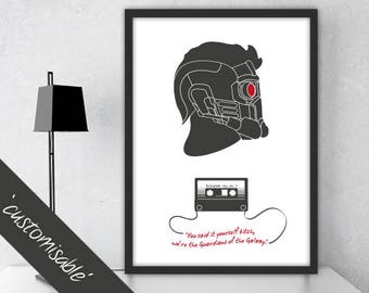 Star Lord - Guardians of the Galaxy / Personalised Poster Gift / Alternative Film Poster / Professionally Printed