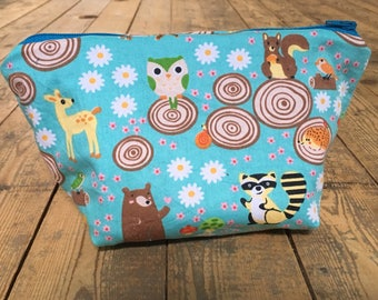 Woodland animals project bag - small