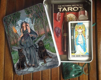 Jumbo Tarot Tin or Travel Altar, Hecate