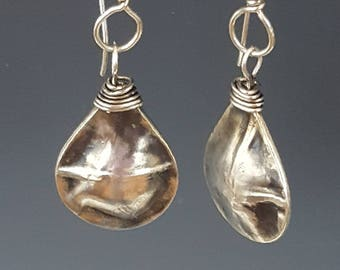 Form Folded and Wirewrap Earrings