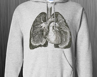 Unique LUNGS Anatomy Hoodie