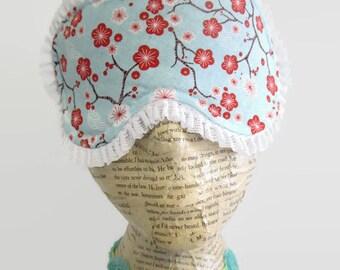 Cherry Blossom Sleep Mask, Spa Mask, Eye Sleep Mask, Travel Mask, Insomnia, Spring Time