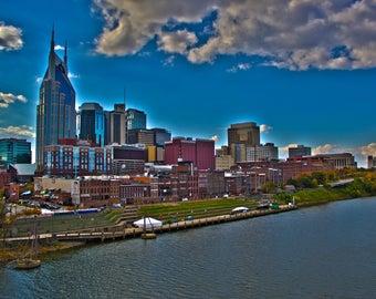 Nashville Skyline 8x10 photo (matted)