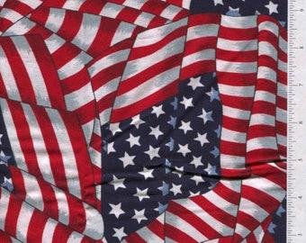 cranston print works AMERICAN FLAG fabric stars and stripes patriotic
