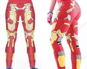 Iron Man Leggings. Justice League Stretch Workout Leggings / Fitness Tights / Dance Pants. Wonder Woman Yoga Pants.
