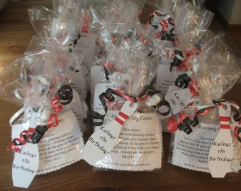 Bowling Favor/Kids Bowling Birthday Party Game Party Favors with Bowling Favor Tags