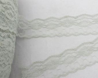 "Grey Floral Lace-35mm-1.37""-3 YDS"