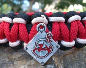 Cleveland Indians Paracord Bracelet
