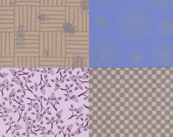 Artist Papers 12x12 Sheets in Shades of Purple for Bookbinding Paper Crafting and Scrapbooking