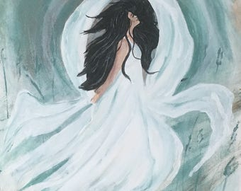 She has the spirit if the sun.  The moods of the moon and the will of the wind