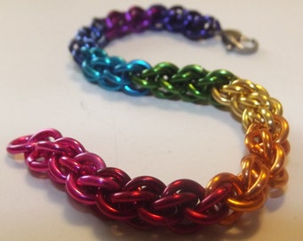 Jen Pind's Link Chainmaille Pride Jewelry Bracelet