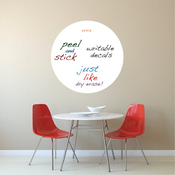 Round dry erase wall decal writable wall decal stickers