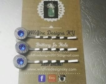 Bullet Hair Pins- Pair of Bobbies -Bobby Pins -Wedding Hair Pins- Country Barn Wedding- Bridal Hair Pins- Bullet Hair Jewelry- Wedding Hair