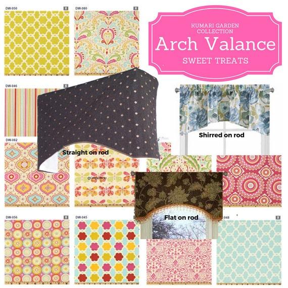 Arch Valance Custom - Kumari Garden / Modern Floral Valance, Boho Retro Valance, Colorful Tropical Valance,  Kids Room Valance, Nursery