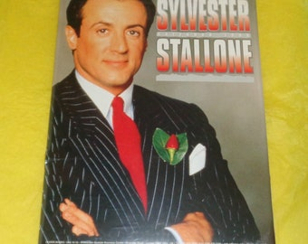 Sylvester Stallone 1999 Oliver Books Calendar Film Memorabilia Full Page Pics Movie Star Vintage Collectable Rambo Rocky Action Hero Muscle
