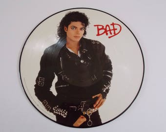 1987 - Michael Jackson - BAD - Picture Disc - LP Vinyl Record Album - 80's Classic Pop