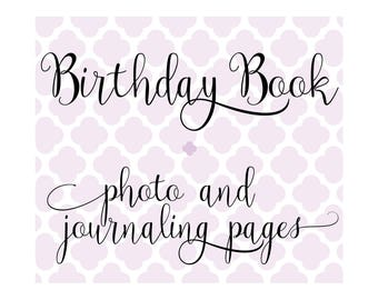 Set of 36 Extra Photo & Journaling Pages for Charmbooks Birthday Books