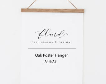 Wooden poster hanger. Poster frame. print hanger. Art hanger. Magnetic poster hanger. Wooden picture frame. Wood picture frame. Art frames.