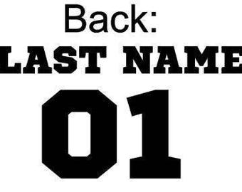 Raglan // Baby // Last Name // Family // 3/4 Sleeve
