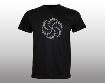 Spiral of Life T-shirt | light reflective print | psychedelic | sacred geometry | night glow