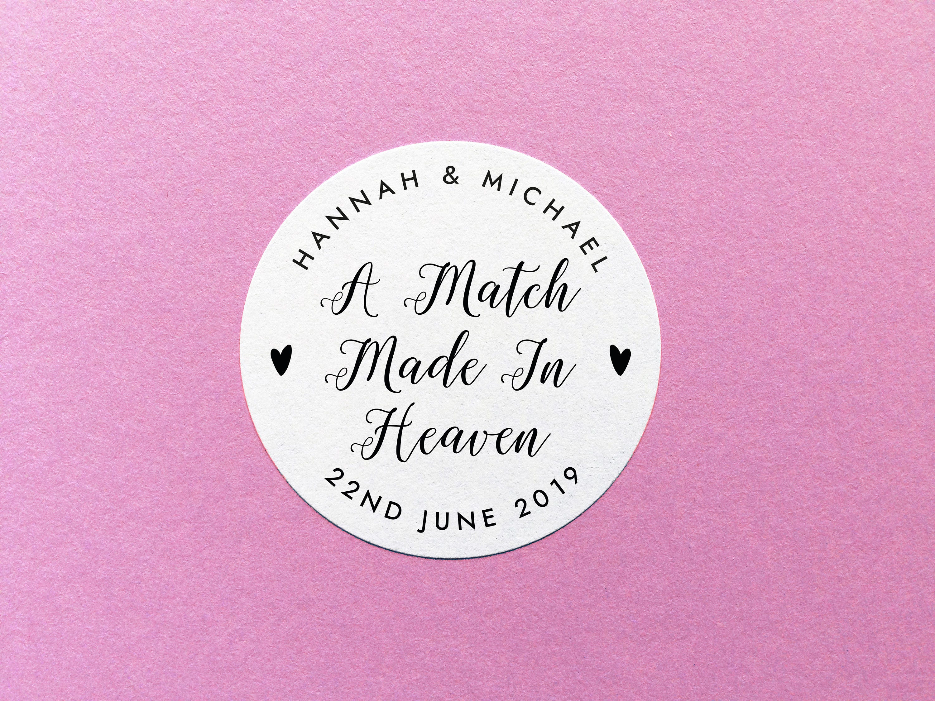 Match Made In Heaven Stickers, Matchbox Wedding Favour, Sparkler ...